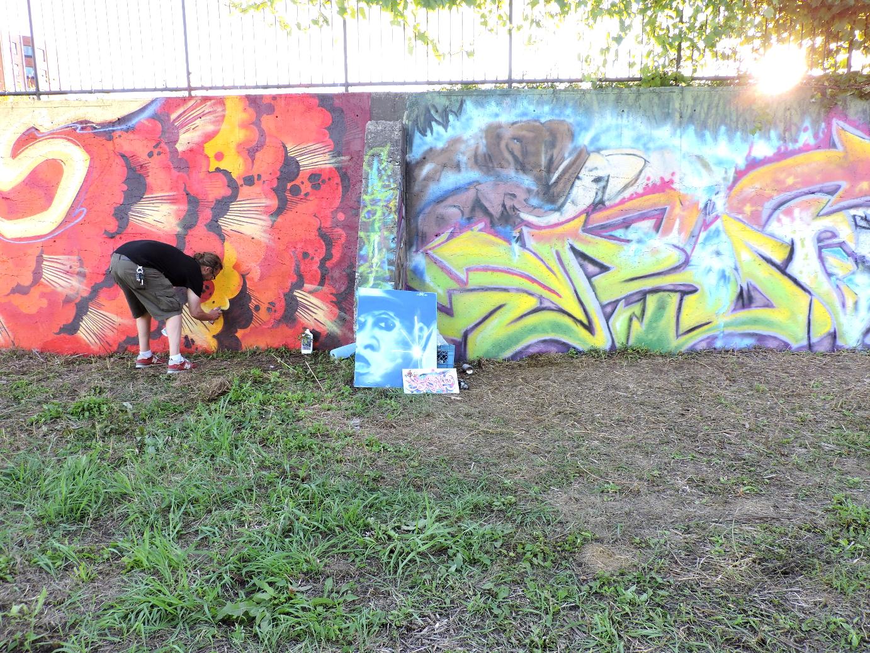 Graffiti wall activity - Community Wall Chrystal Wilson Irina Skvortsova Jean Jamieson Hanes Joanna Duarte Joshua Vroom Sam Macleod Mark Reinhart Harley Brushey Robbie Darling